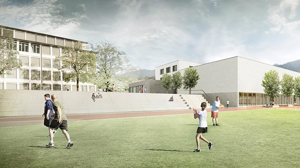 Schul-und Sportanlage, Oberarth