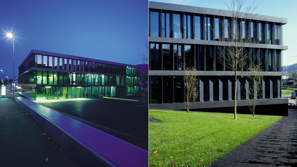 Gemeindezentrum und Raiffeisenbank Wollerau