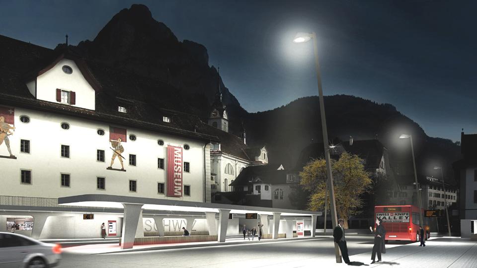 Wettbewerb Bushof und Bahnhofstrasse Schwyz